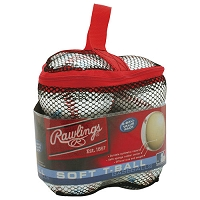 Rawlings TVB T-Balls with Mesh Bag 6 pack Baseballs