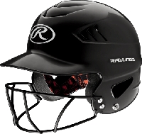 Rawlings Coolflo Face Mask Batting Helmet