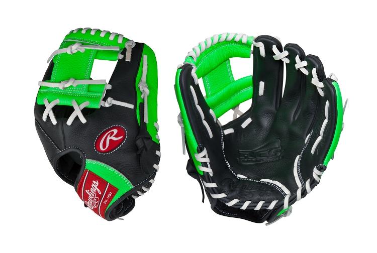 "Rawlings RCS Series Neon Green 11.5"" Infield Baseball ..."