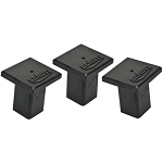 Schutt Base Anchor Square Rubber Plugs Set of Three