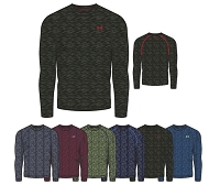 Under Armour Mens Tech Patterned Long Sleeve Training Shirt