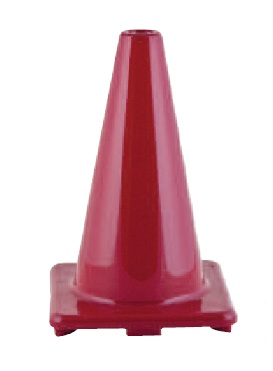 Champion 12 Inch High Visibility Flexible Vinyl Cone Red