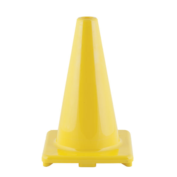 Champion 12 Inch High Visibility Flexible Vinyl Cone Yellow