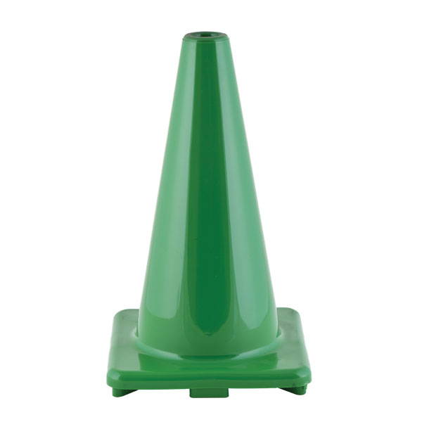 Champion 18 Inch High Visibility Flexible Vinyl Cone Green