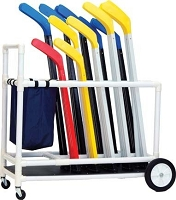 Champion Sports White Deluxe Abs Floor Hockey Cart