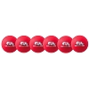Champion 6 Inch Rhino Skin Low Bounce Dodgeball Set Neon Red
