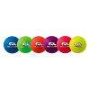 Champion 6 Inch Rhino Skin Low Bounce Neon Rainbow Dodgeball Set