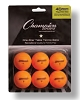 Champion 1 Star Tournament Table Tennis Ball Orange Set of 6