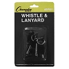 Champion Plastic Whistle & Black Lanyard Pack