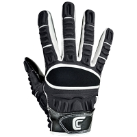 Cutters The Gamer Gloves Youth Receiver Gloves - Black/White - Size Youth Large