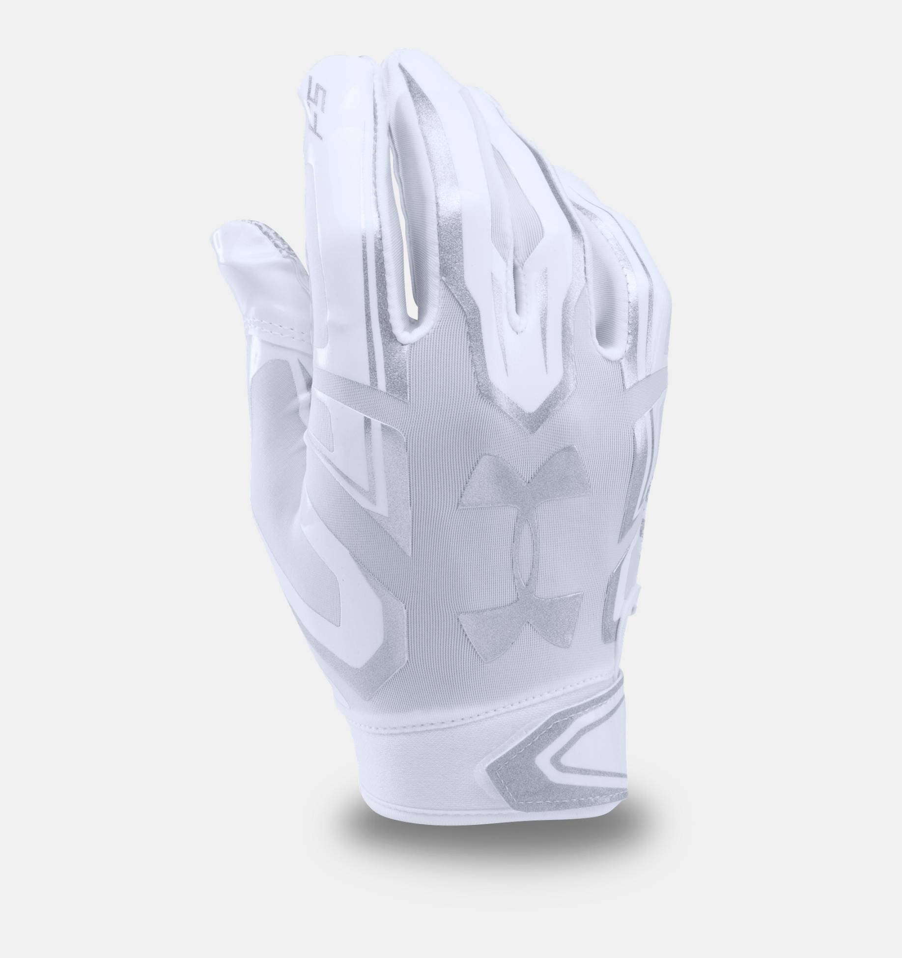 all white under armour football gloves