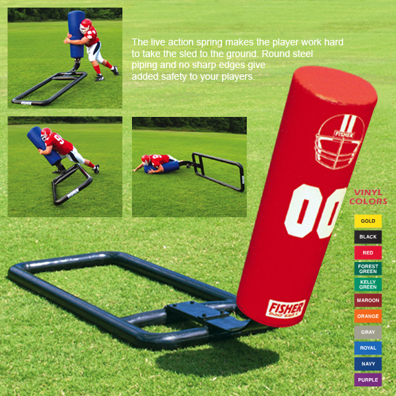 Fisher JV SackBak Tackle Sleds w/ Round Pads