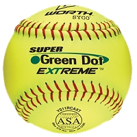 Worth 11'' ASA SYCO Pro Comp Super Green Dot Slowpitch Softball