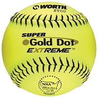 Worth 12'' Pro Comp Super Gold Dot Extreme NSA Softball YS44NCYXT