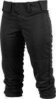 Rawlings Girls Low Rise FPEX Plush Fastpitch Softball Pants - Size Large - Black