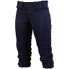 Rawlings Girls Low Rise FPEX Plush Fastpitch Softball Pants - NAVY - Size SMALL