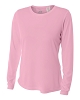 A4 Womens Long Sleeve Performance Crew Volleyball Top