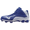 Mizuno Mens 9-Spike Advanced Franchise Mid Baseball Cleat - Royal/White - Size 9
