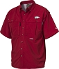 Drake Arkansas Vented Short Sleeve Wingshooter's Shirt - Cardinal - Size Large