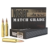 Nosler 30 Nosler Match Grade Ammunition, 190gr. Custom Competition Hollow Point Boat Tail, Per 20