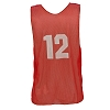Champion Youth Numbered Scrimmage Vests - Dozen - Red