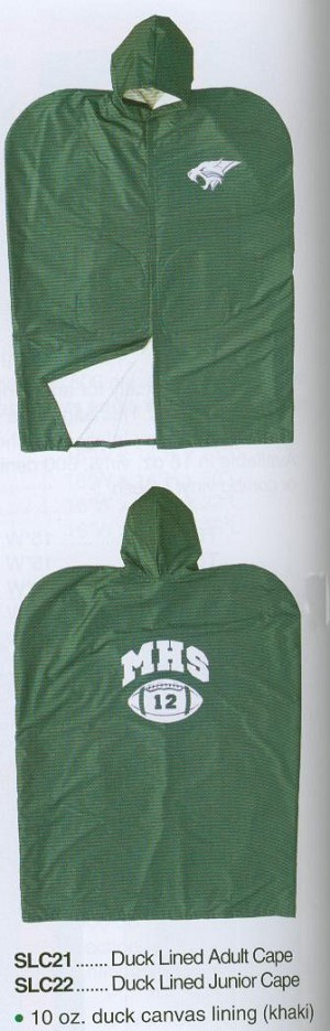 545117430 Fisher Duck Lined Football Sideline Cape