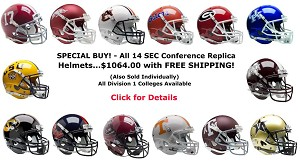 Schutt Replica SEC Football Helmet Set