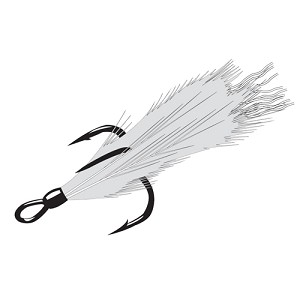 Gamakatsu Feathered Treble Wxr 6, 2 Hooks P/P