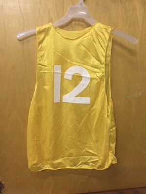 Champion Youth Numbered Scrimmage Vests - Dozen - Yellow