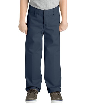 Dickies Boys Classic Fit FlexWaist Flat Front Pant With Logo KP321