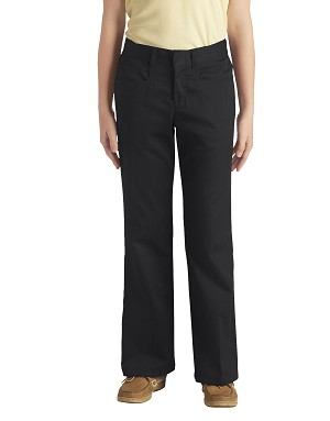 Dickies Girls Boot Cut Stretch Twill Juniors Pant