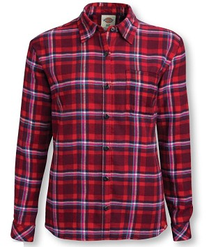 Dickies Girls Long Sleeve Flannel Shirt