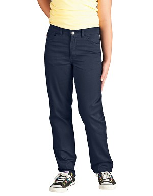 Dickies Girls 5 Pocket Stretch Twill Pant 7-20