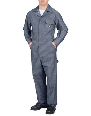 Dickies Mens Fisher Stripe Cotton Coverall