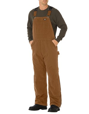 Dickies Mens Sanded Duck Insulated Bib Overall