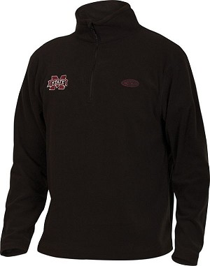 Drake Mississippi State Camp Fleece Pullover - Black - Size Small