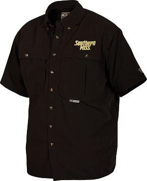 Drake Southern Miss Vented Short Sleeve Wingshooter's Shirt - Black - Size XXL