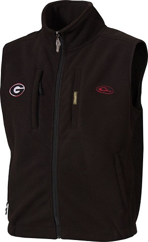 Drake Georgia Windproof Fleece Vest - Black - Size XL