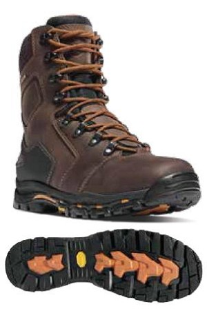 "Danner Mens Vicious 8"" Brown Boots"