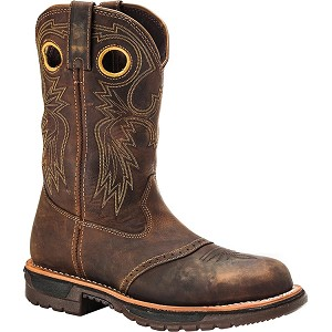Rocky Ride Steel Toe Western Work Boots