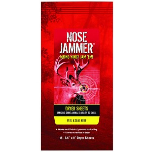Nose Jammer Dryer Sheets,Single Unit