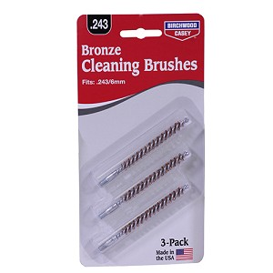 Birchwood Casey .243/6 mm, .257 Bronze Brush 3 Pack