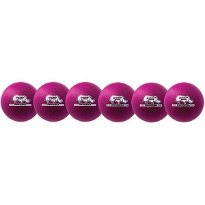 Champion 6 Inch Rhino Skin Low Bounce Dodgeball Set Neon Violet