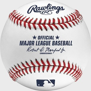 Rawlings Official MLB Baseballs in Display Case