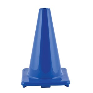 Champion 12 Inch High Visibility Flexible Vinyl Cone Blue