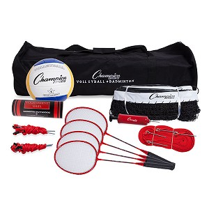 Champion Deluxe Volleyball/Badminton Tournament Set