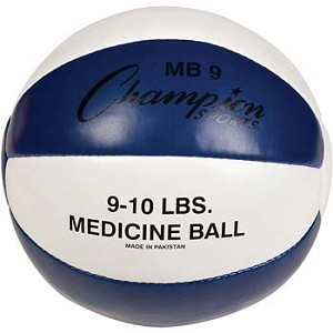 Champion Leather 9-10 lbs Medicine Ball