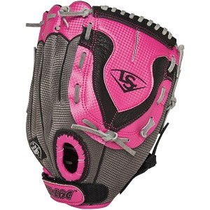 "Louisville Slugger FGDV14-HP110 11"" Youth Diva Hot Pink Fastpitch Softball Glove"