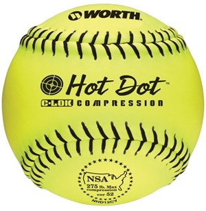 Worth 12'' Pro Comp Hot Dot NSA Slowpitch Softball NHD12CY