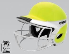 Worth Liberty Away Optic Yellow Fastpitch Batting Helmet